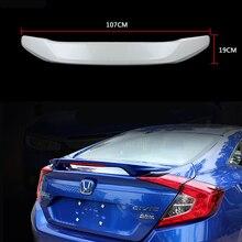 Для Honda Civic 2016 СВЕТОДИОДНЫХ Заднего Крыла Спойлер, магистральные Загрузки Спойлер Крылья краска ABS