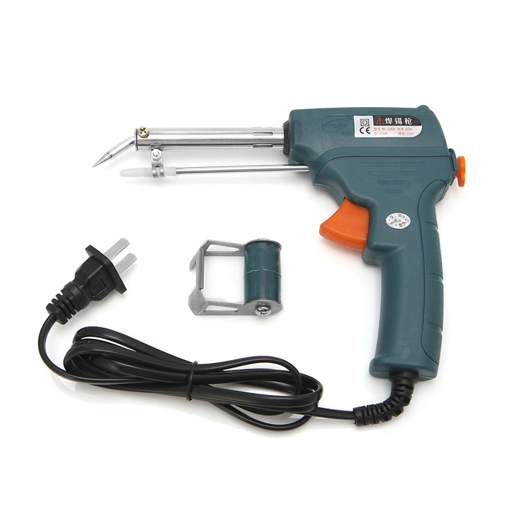 220V 60W Auto Welding Electric Soldering Iron Temperature Gun Solder Tool Kit US Plug Welding Equipment