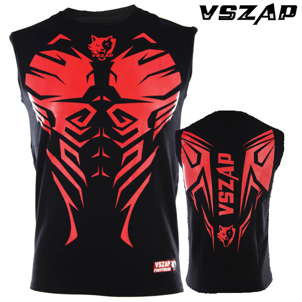 VSZAP Boxing Sleeve Hall Fame Shirt Sweatshirt Muay Thai Clothes Tight Stretch Free Shipping Men Hot Sale Mma
