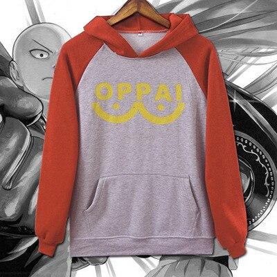 One Punch-Man Hero Saitama Cosplay Costume Mens Hoodie Sweatshirt Coat Tops