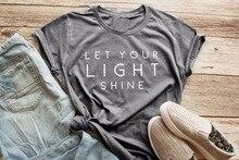 "Women's Christian T-Shirts ""Let Your Light Shine""  T-Shirt"