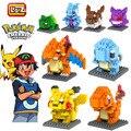 Loz Modelo Juguetes Figuras de Pokemon Pikachu Bulbasaur Charmander Squirtle Mewtwochild Niño Bloques de Construcción de regalo de Navidad 9 + Anime