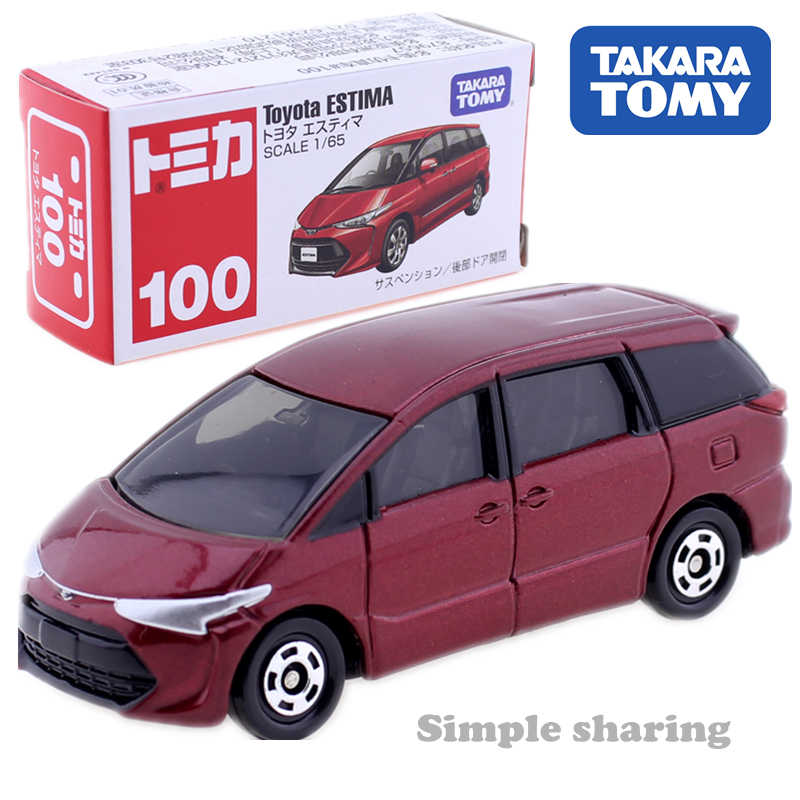 Takara Tomy TOMICA No.100 Toyota Estima Scale 1:65 car model kit Diecast hot kids toys escala Collectibles funny miniature dolls