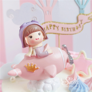 Image 2 - Boy Girl Pilot Decorations Cloud Balls Cake Toppers for Valentines Day Childrens Day Party Birthday Supplies Lovely Gifts