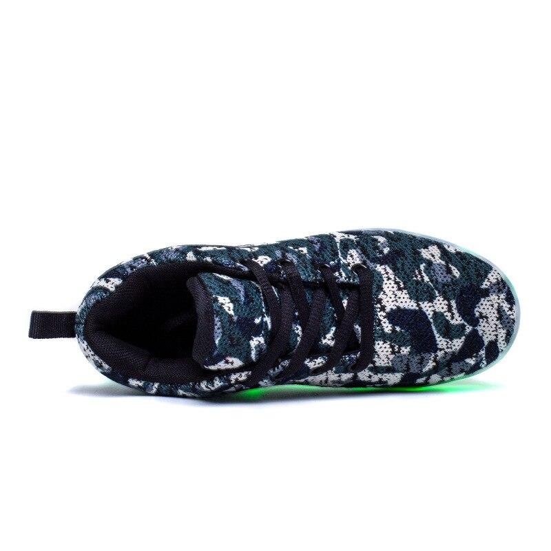 3a9def16f0f 2017 Mais Novo Malha Crianças Conduziu A Luz Sapatos Casuais Sapatos  Meninos Sapatas Do Miúdo de Incandescência Luminosa USB Recarregável  ChargingTeens ...