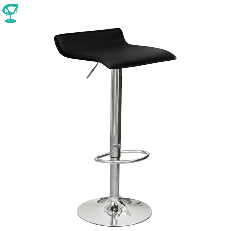 94503 Barneo N-38 Leather Kitchen Breakfast Bar Stool Swivel Bar Chair Black Color Free Shipping In Russia