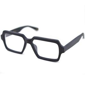 Image 3 - Posesion Wood Men Women Glasses Frames Square Oversized Prescription Optical Eye Glasses Frames for Men oculos de grau