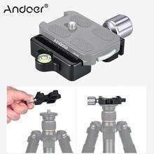 """Andoer DC 50 퀵 릴리스 플레이트 클램프 노브 형 1/4 """"및 3/8"""" 스크류 홀 arca 용 스위스 표준 manfrotto 200pl 용"""