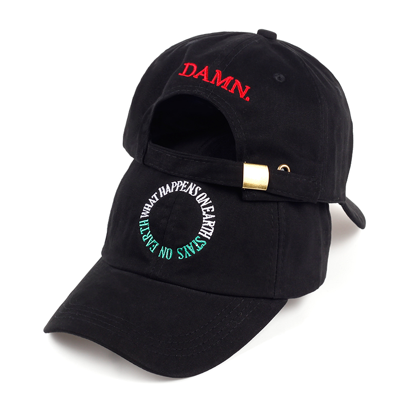 VORON new wine red white black embroidery DAMN. dad hat bone women men the rapper baseball cap hip hop male trucker gorras feitong summer baseball cap for men women embroidered mesh hats gorras hombre hats casual hip hop caps dad casquette trucker hat