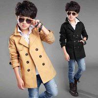 2019 New Teen Trench Coat Children To lol Party Wind Breaker Jacket Kids Medium length Spring Overcoat Baby Clothes Abrigo