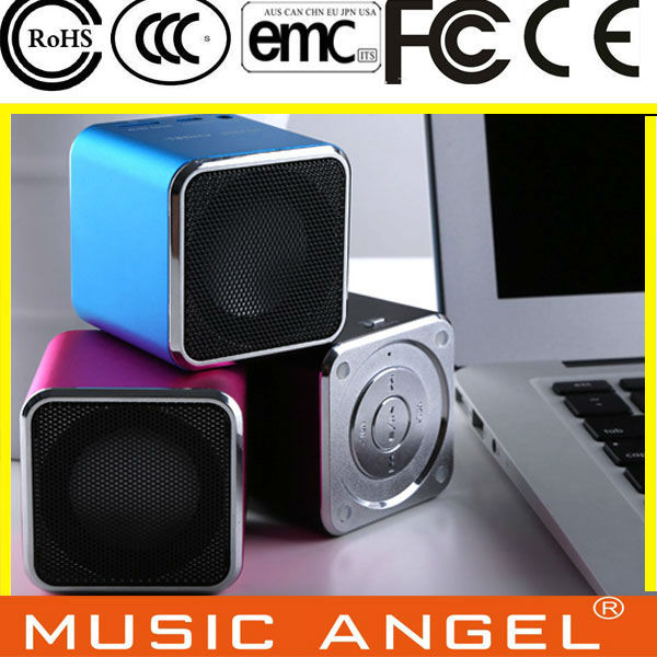 Original New Music Angel JH-MD07U Portable Mini Spearker with TF /  Micro SD Slot Support Download USB Disk FM Radio Speaker