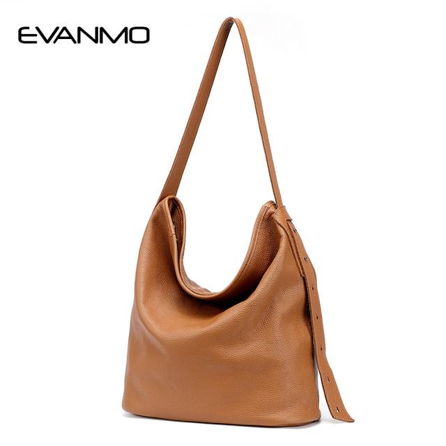 8c5af355f5 Brand Leather Women Shoulder Bag Female Large Tote Bags Hobo Soft Brown  Leather Ladies Crossbody Messenger