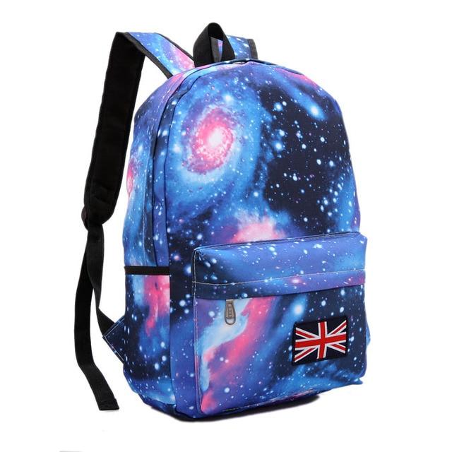 2018 NEW Harajuku skateboard dream starry sky women s backpack preppy style  schoolbag men s union flag travel shoulder bag a92ee392004ef