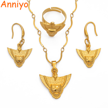 Anniyo PNG Mask Necklace & Earrings & Ring Jewellery Sets for Women,Papua New Guinea Ethnic Items #112406