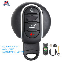 KEYECU Replacement OEM Smart Remote Key Fob 4 Button 315/434MHz Optional for BMW Mini Copper 2015 2018 Fcc # NBGIDGNG1