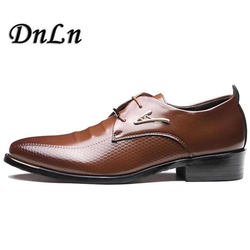 Men Dress Shoes Pu Leather Causale Shoes Business Shoes Pointed Toe Derbi Shoes Office Men Foot Wear ZT40