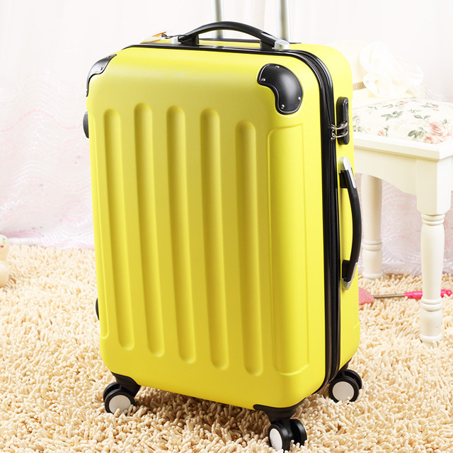 Wholesale!20 24 28 abs pc travel luggage sets,high quality straps style trolley travel luggage bags,female hardside travel bags