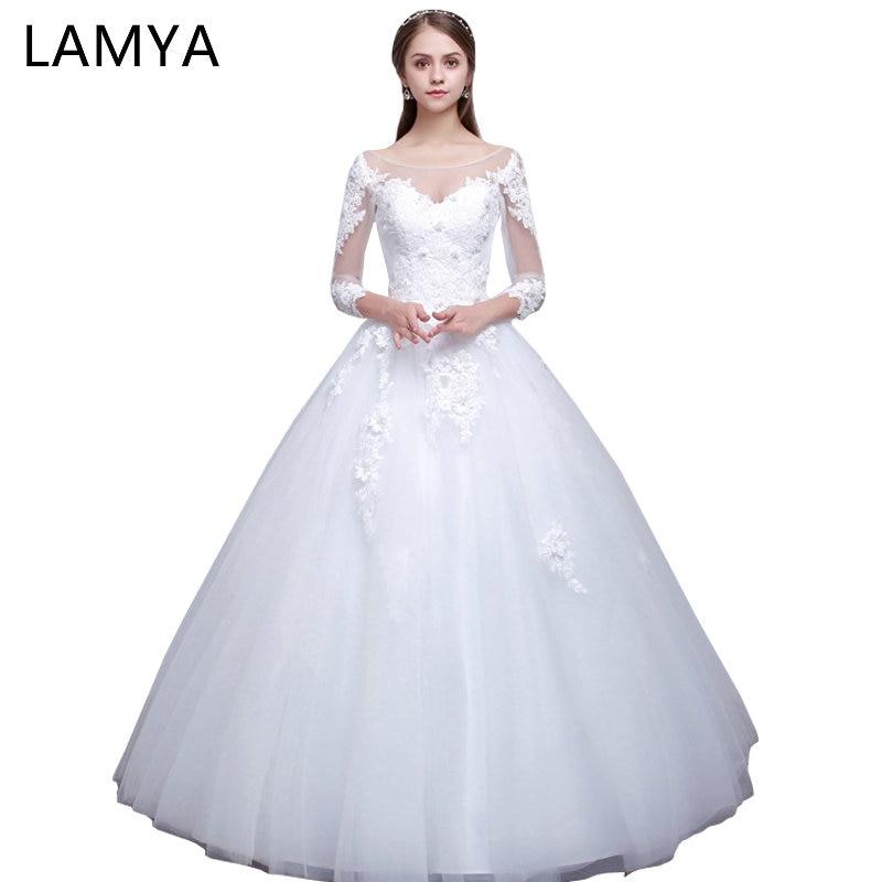c4892b94bafa Lamya πραγματική φωτογραφία Princess Κομψά φορέματα γάμου με μακρύ ...