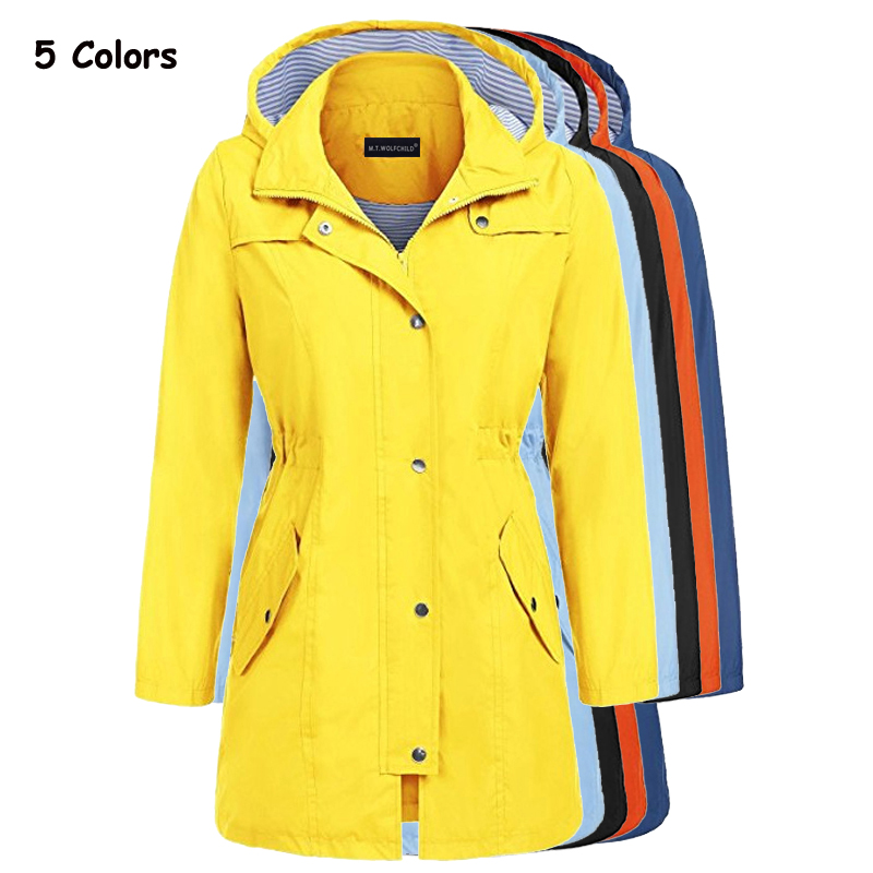 High quality 2018 Autumn Fashion Women New waterproof Coat Medium Long Casual Hooded Coat Female Slim   Trench   lady outerwear