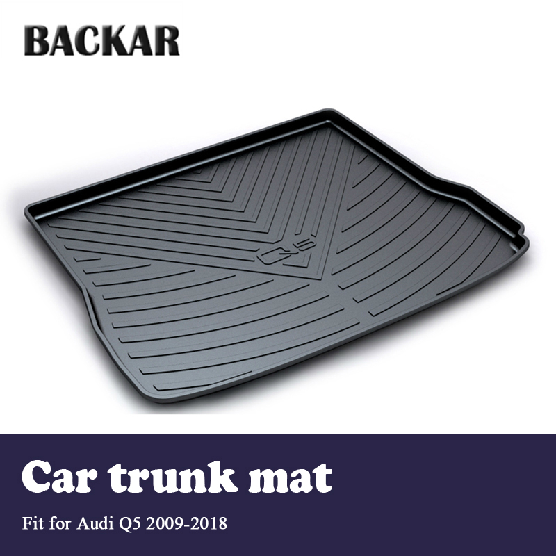 Backa Cargo Rear Trunk Mat Liner Tray Anti slip For Audi Q5 B8 B9 2009 2010 2011 2012 2013 2014 2015 2016 2017 2018 Accessories