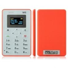 Original AEKU M5 Mini Notfall Karte Telefon Mit Backup 4,5mm Ultradünne Low Radiation Telefon