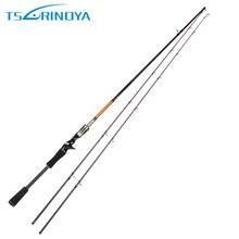 Tsurinoya Casting Fishing Rod 2.1M 2.4M M & ML Two Tips Line Weight 1-9kg 98% Carbon Fiber baitcasting Fishing Pole Fuji Ring