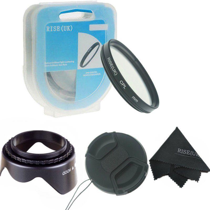 52mm CPL Filter + Lens Hood + Cap untuk Nikon D7200 D7000 D5300 D5000 - Kamera dan foto - Foto 1