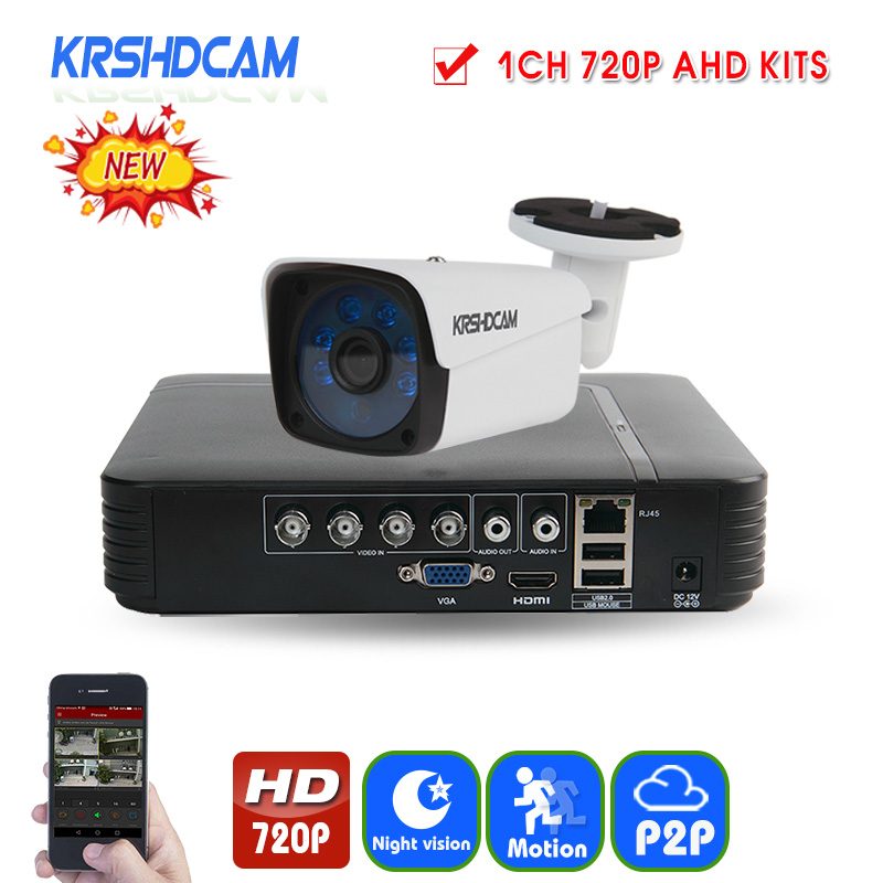 KRSHDCAM Security CCTV System 30M IR 2PCS 720P CCTV Camera Outdoor Waterproof Camera 5 in1 AHD DVR Home Video Surveillance Kit cnhidee home security camera system nightvision ahd 8ch 720p ir 1200tvl dvr hd kit video surveillance system 8ch outdoor kit set