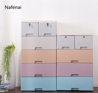 Storage Cabinet Organizer Plastic big clothing storage single layer gaveta drawer organizer plastic box