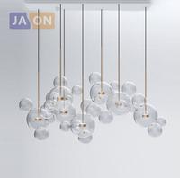 LED Postmodern Nordic Iron Glass Bubbles Designer LED Lamp LED   Light  .  Pendant     Lights  .  Pendant   Lamp.  Pendant     light   For Dinning Room