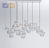 LED Postmodern Nordic Iron Glass Bubbles Designer LED Lamp LED Light.Pendant Lights.Pendant Lamp.Pendant light For Dinning Room