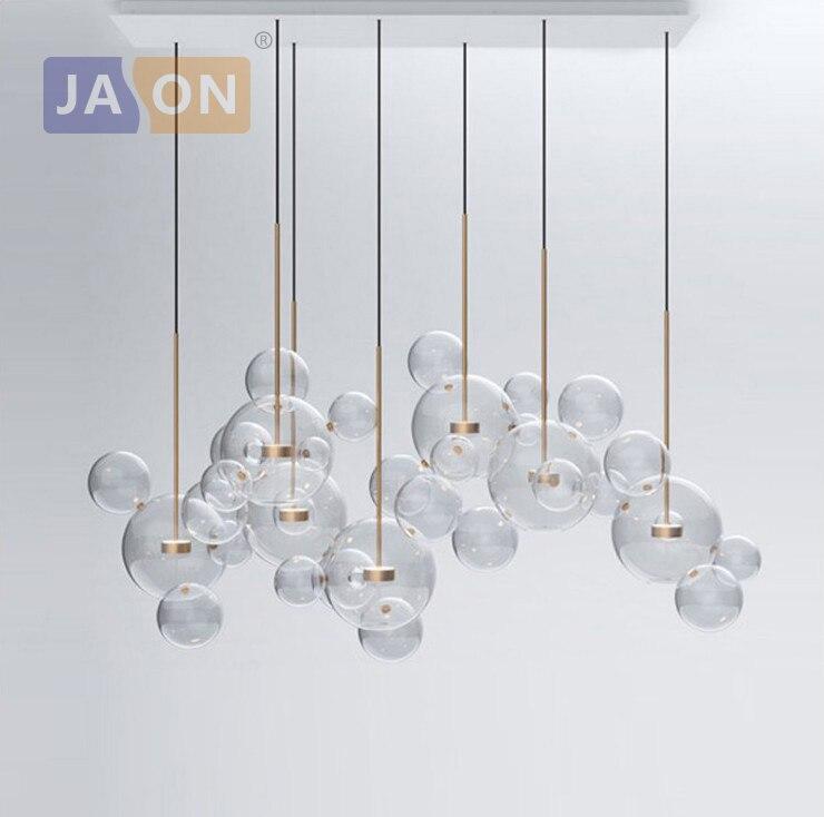 LED lampe à LED de concepteur de bulles de verre de fer nordique postmoderne lumière LED. suspension. suspension pour salle à manger