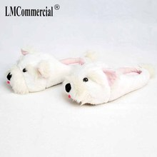 Lovers Warm Woman Slippers Winter Plush Home Floor Shoes Women Anime Cartoon Slippers House Slippers Children fur slippers