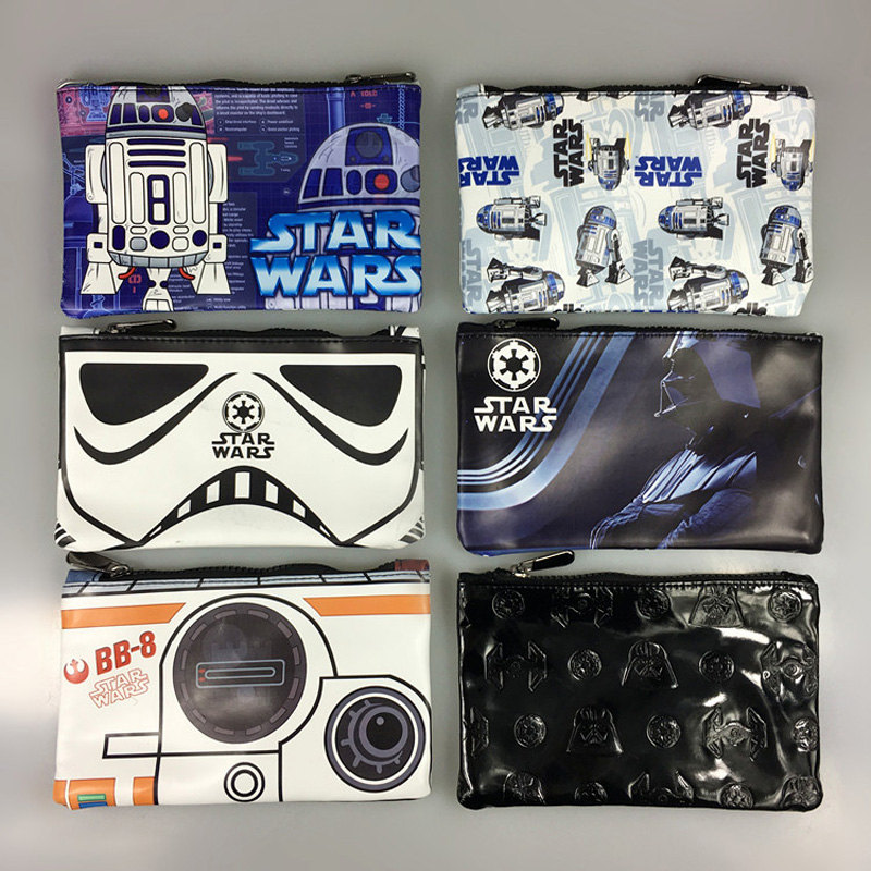 DC Marvel Star Wars Pen Purse StarWar Cartoon Anime Stationery Pencil Case Box Pouch Wallets Leather Zipper Pen Pencil Wallet pokemon go print purse anime cartoon pikachu wallet pocket monster johnny turtle ibrahimovic zero pen pencil bag leather wallets