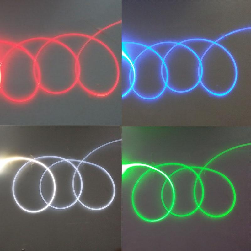 3m DC12V side glow fiber optic light kit for car decoration