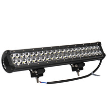 2PCS 126W 42x 3W 12600 LM Car 12-24V LED Light Bar as LED Work light Flood Light Spot Light led car for Boating Hunting Fishing