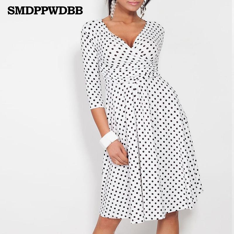 257e883ec SMDPPWDBB Vestido de las mujeres con cuello en V elegante Oficina Vestido  vestidos de maternidad de la rodilla longitud embarazo ropa de otoño mujeres  Sexy ...