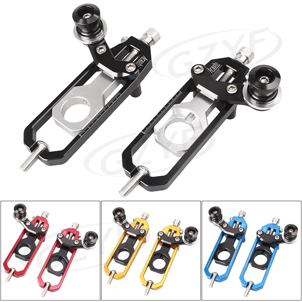 CNC Aluminum Chain Adjusters with Spool Tensioners Catena For Kawasaki Ninja ZX-10R ZX10R ZX1000 2011 2012 2013 2014 2015 silver motorcycle radiator grille guard cover protector for kawasaki ninja zx 10r zx 10 r zx 10r zx10r 2011 2012 2013 2014