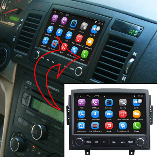 7 Inch Android Car Gps Navigation For Chevrolet Epica 2006 2010 Car