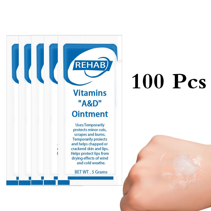 100 Pcs A&D Ointment Cream Vitamin Cream For After Tattoos Care Skin Repair A&D Anti Scar Body Art Healing Skin Tattoo Supplies