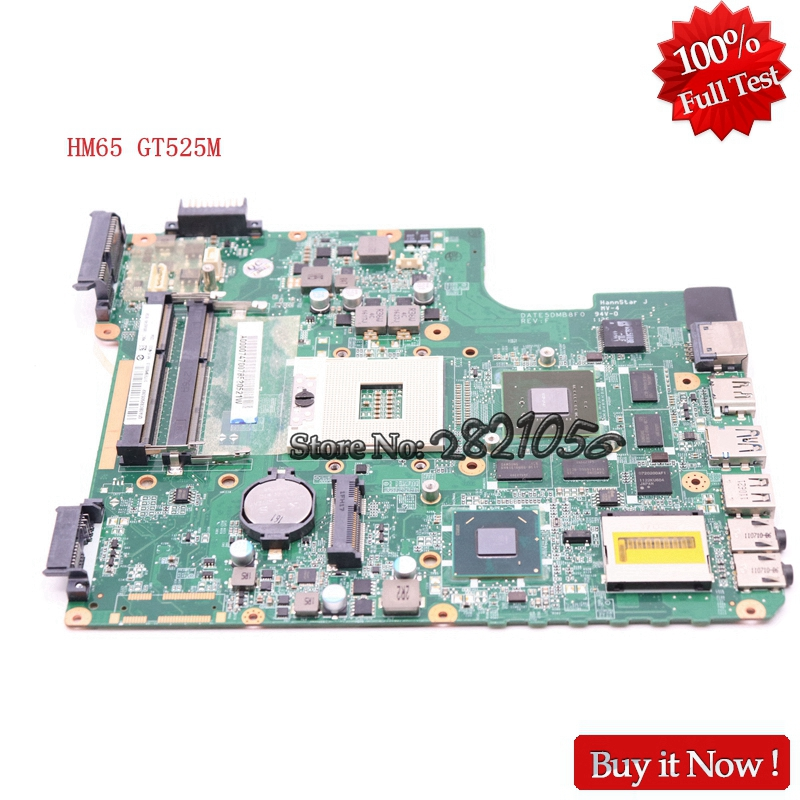 цена NOKOTION For Toshiba Satellite L700 L745 Laptop Motherboard A000074700 DATE5DMB8F0 HM65 DDR3 GT525M Video card