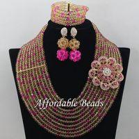 African Beaded Jewelry Luxury Jewelry Set Handmade Item Wholesale Free Shipping ABE149