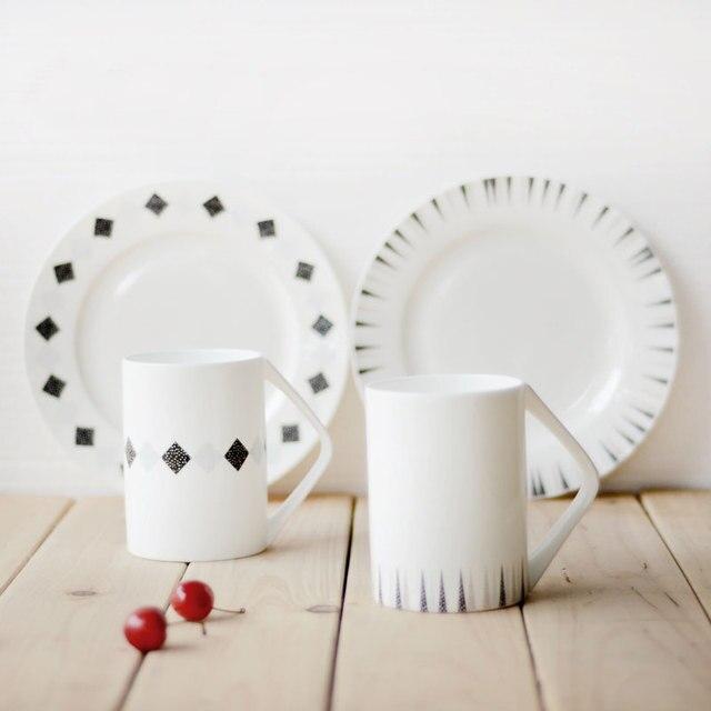 China knochen Küche geschirr sets keramikplatten becher mit ...