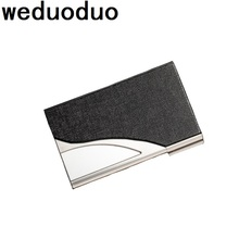 Weduoduo New Brand Stainless Steel Mens Business Card Holder Portable ID case for women metal Credit card holder