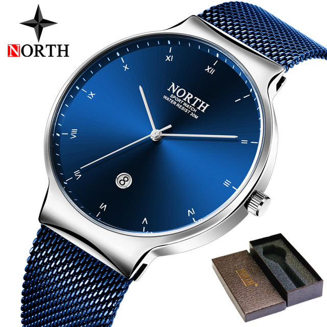 NORTH Luxury Business and Sport Watch for Men [Waterproof]