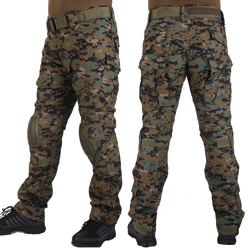 Military Tactical Pants Woodland Jungle Camouflage Army Battlefield Men Camo Cargo Trousers Airsoft Combat BDU Hunting
