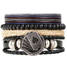 New Fashion Leather Anchor Bracelets & Bangle for Men