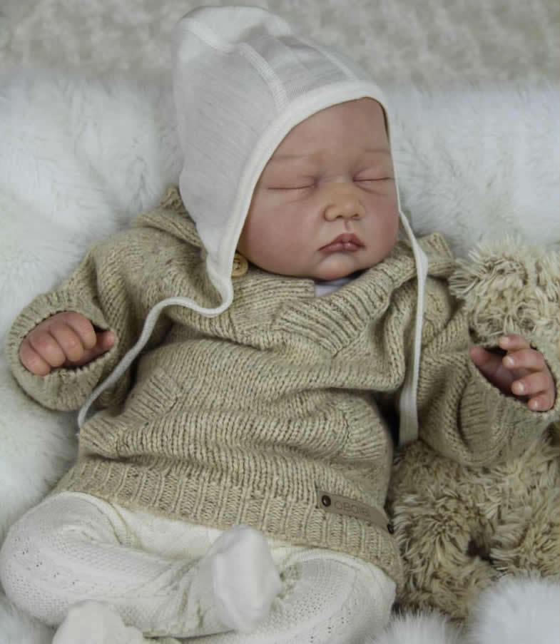 Most popular limited edition realistic reborn doll kit vinyl silicone kit DIY 22 inches reborn baby accessories