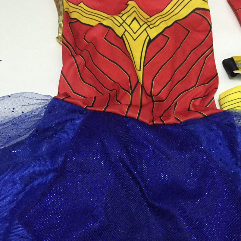Purim Deluxe Wonder Woman Costume Cosplay Halloween Superhero Girls Child Dawn Of Justice Princess Diana Dress Up Suit (12)