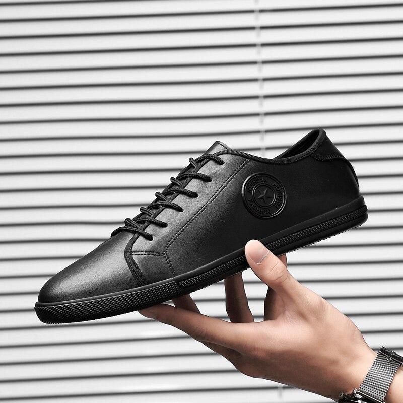 Chaussures hommes baskets en cuir véritable chaussures respirantes loisirs et chaussures en cuir confortables pour les chaussures mocassins chaussures hommes p4